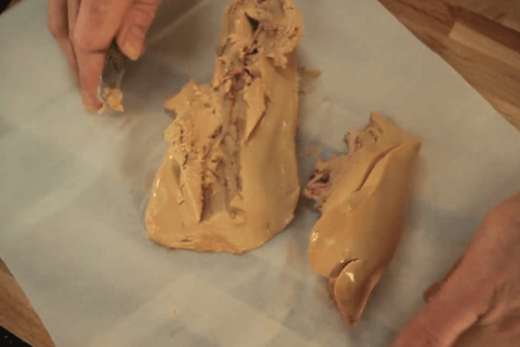 déveiner le foie gras