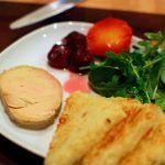 Recette de foie gras et aiguillettes sur canapé