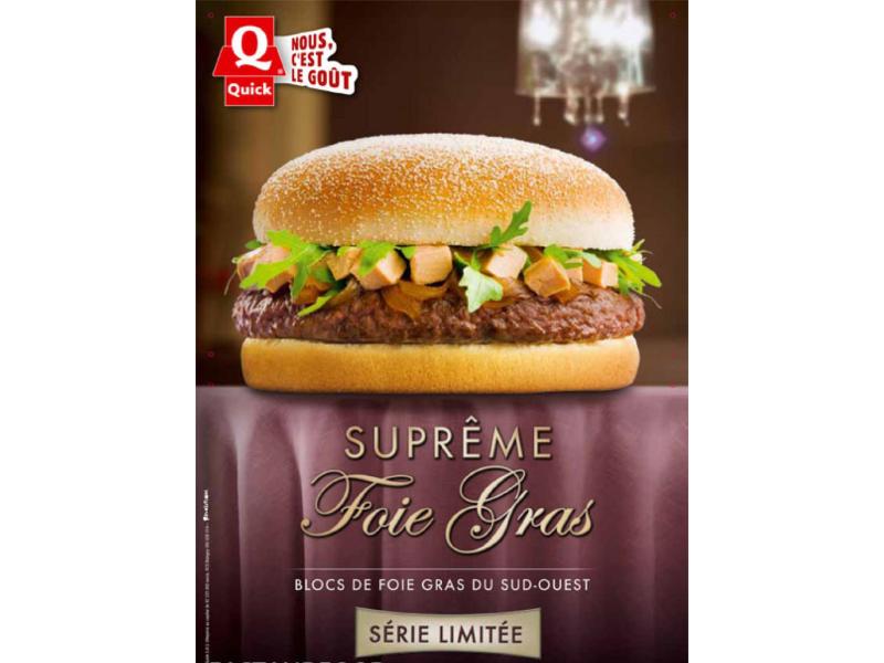 Suprême foie gras hamburger par Quick